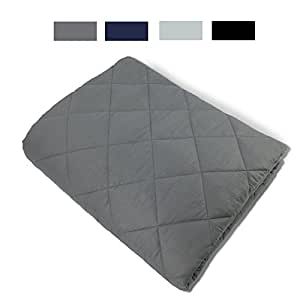 "New Version Weighted Blanket by Hypnoser for Child and Adults,Dark Grey,60""x80""-25 lbs for 200+ lbs,Providing Calm and Comforting Sleep, Great for Anxiety,Insomnia, ADHD, Autism, OCD and SPD"