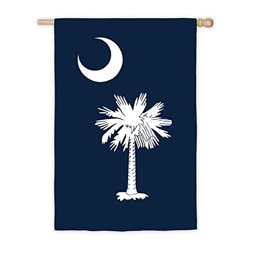 - Evergreen South Carolina Outdoor Safe Double-Sided Applique House Flag, 28 x 44 inches