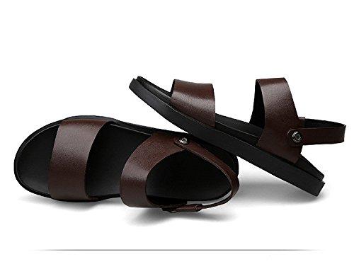 Sommer neue Männer Freizeit Sandalen Einfache britische Stil Sandalen Männer große Größe Dual-Einsatz Schuhe, braun, UK = 8,5, EU = 42 2/3