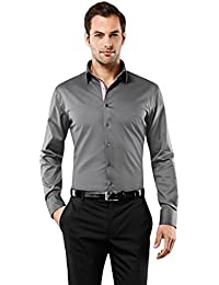 Men's Shirt Slim-Fit Non-Iron uni Contrasts