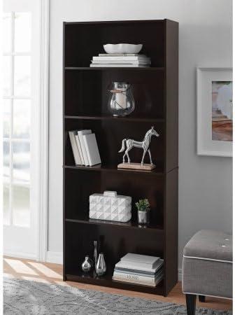 Mainstay 5-Shelf Standard Wood Bookcase