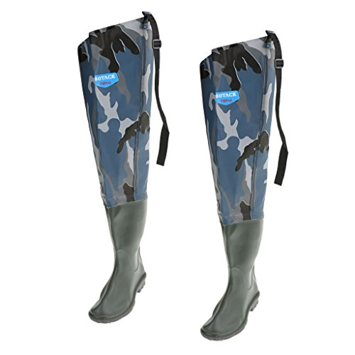 Soles Foot Cleated Baoblaze Boot River Waders Boot Fishing Waterproof Hip with Waders 1q17XP