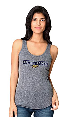 NCAA Northern Arizona University Lumberjacks Women`s Stock Bar Design Tank Top Shirt, X-Large