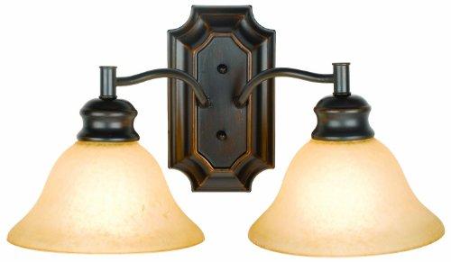 Design House 504407 Bristol 2 Light Wall Light, Oil Rubbed Bronze - Wall Mounted Light Fixtures