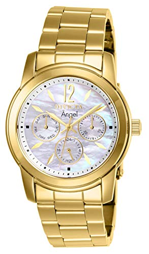 Gold Plated Mop Dial - Invicta Women's 0465 Angel Collection 18k Gold-Plated Stainless Steel Watch