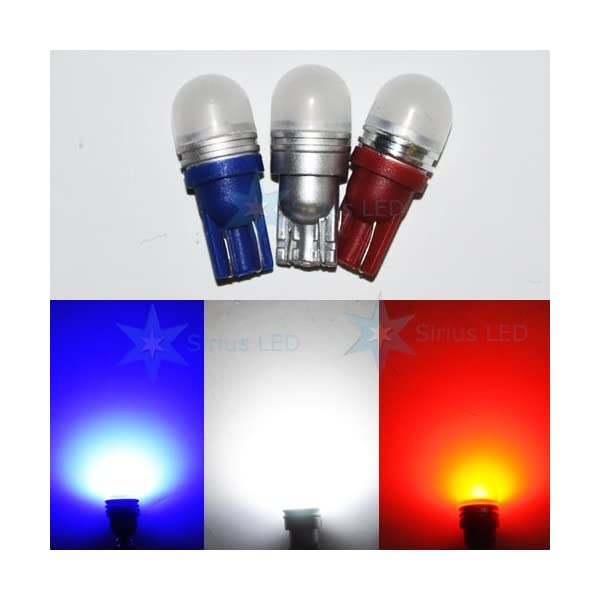 2x T10 194 White Blue Red 360 Degree Hight Quality LED Wedge Instrument Panel Light Bulbs