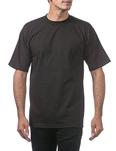Pro Club Men's Heavyweight Short Sleeve T-Shirt, Black, 4X-Large (3 Pack) Photo #5