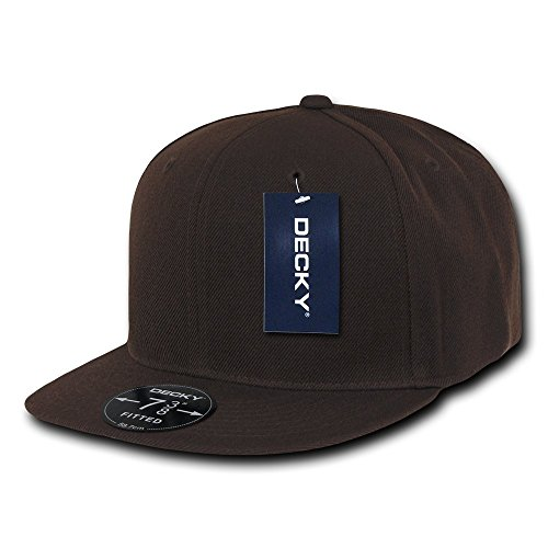 (DECKY Retro Fitted Cap, Brown, 6 7/8 )