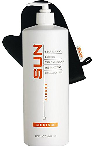 Self Tanner Lotion Tan Overnight Instant Tint - Medium 32 oz Bronzer | Flawless Fake Tanning Gel Lotion | Sunless Tanning Cream | Instant, Fast-Drying, Streak-Free Self Tanner | Natural (Tinted Self Tanning Cream)