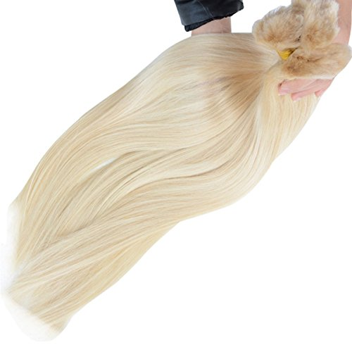 IUEENLY Blonde #613 Color Brazilian Straight Human Hair Bulk for Braiding No Weft 3 Pcs (24 24 24inch) from IUEENLY
