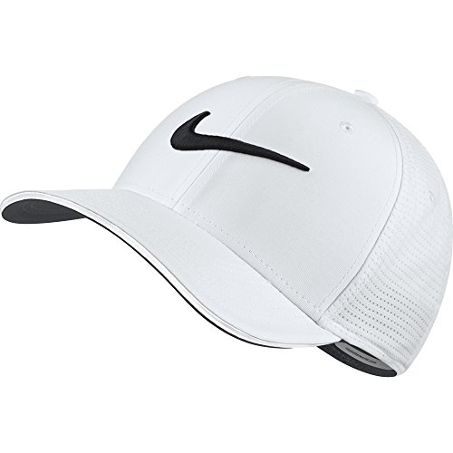 NIKE Unisex Classic 99 Mesh Golf Cap, White/White/Anthracite/Black, Medium/Large (Nike Cap Classic)