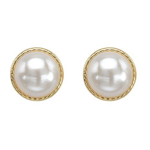 10k Yellow Gold Round Genuine Birthstone Halo Stud Earrings