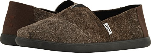 TOMS Men's Venice Collection Alpargata Choclate Shaggy Suede 11 D US (D Width Shoes)