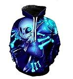 Huojice Undertale Hoodie Sans Skull Cosplay Costumes (XL, Blue-2)