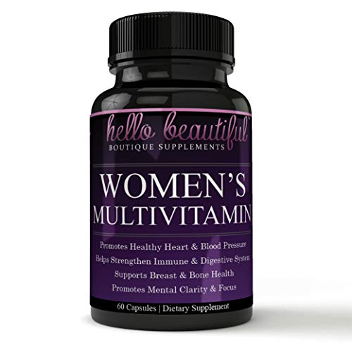 Daily Women Multivitamin with Iron Plus Biotin, Vitamins A B C D E, Calcium, Turmeric, Iron, Folic Acid & More