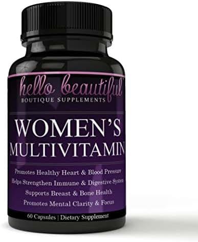Daily Women Multivitamin with Iron Plus Biotin, Vitamins A B C D E, Calcium, Turmeric, Iron, Folic Acid & More