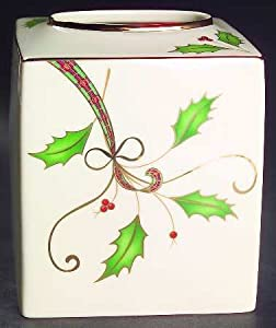 Lenox China Holiday Nouveau Gold Square Tissue Box Cover, Fine China  Dinnerware