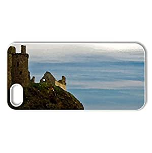 Dunnotter Castle - Scotland - Case Cover for iPhone 5 and 5S (Medieval Series, Watercolor style, White)