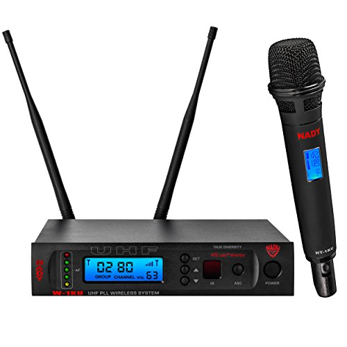 Nady W-1KU HT 1000 Channel UHF True Diversity Handheld Wireless Microphone System with Carrying Case