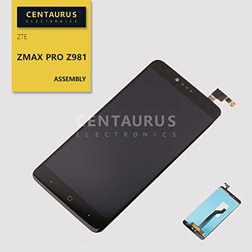 LCD Touch for ZTE ZMax Pro Z981 6.0 inch Assembly LCD Display Touch Screen Digitizer Panel Glass Full Replacement Parts (Glass Pro Lcd)