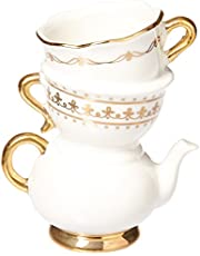 Kate Aspen 23140NA Tea Time Whimsy Ceramic Bud Vase