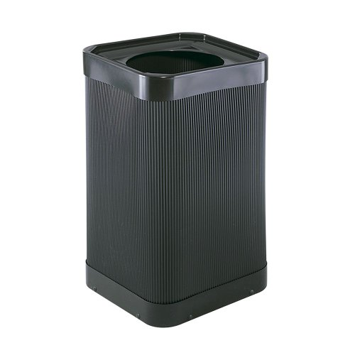 Safco At-Your Disposal Top-Open Waste Receptacle, Square, Polyethylene, 38gal, - 38 Receptacle Gallon