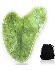 Gua Sha kamień do masażu z jadeitu, naturalne narzędzie do pielęgnacji twarzy, guasha Board Scraping, narzędzie do masażu pięknego, do pielęgnacji skóry SPA, do odchudzania i ujędrniania skóry