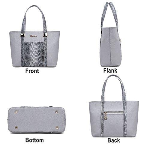 Fashion a Handbag tracolla Leather 6pcs Casual Pu Lady Tisdaini nera Borsa Set Ia7wqBv