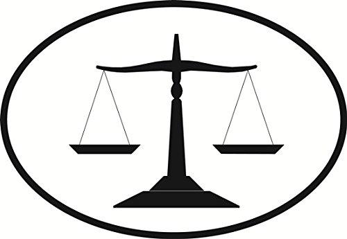 (Justice Scales Euro Oval Bumper Sticker)