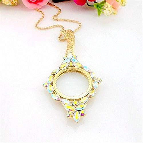 ZY-YY 5Xネックレスペンダントファッション美しい拡大鏡、母への贈り物として