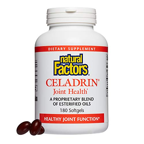 - Natural Factors, Celadrin Joint Health, Promotes Flexibility, Mobility and Joint Function, Dietary Supplement, 180 softgels (60 Servings)