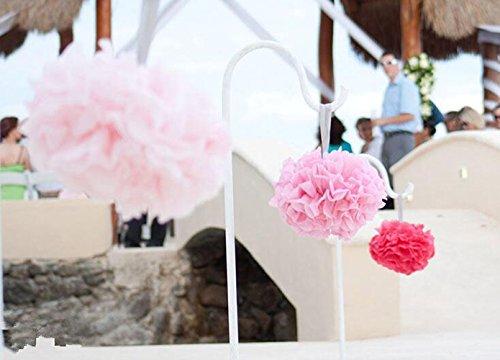 bekith 20 pack tissue paper flowers pom poms wedding decor import it all. Black Bedroom Furniture Sets. Home Design Ideas