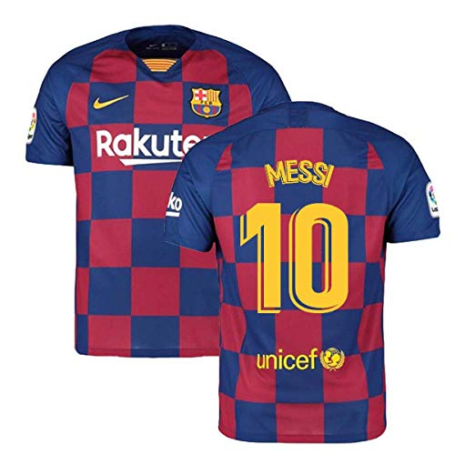 2019-2020 Barcelona Home Nike Football Soccer T-Shirt Jersey (Lionel Messi 10)