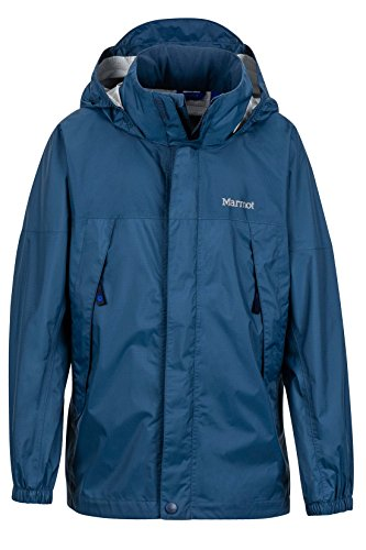 Marmot PreCip Boys' Lightweight Waterproof Rain Jacket, Vintage Navy, (Marmot Trail Light)
