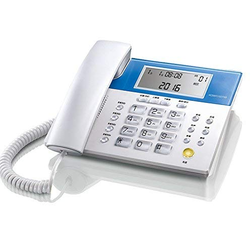 BAIF Telephone- Telephone Home Battery-Free Landline Bed Room Hotel Household White ABS Business Office Wired Phone Welcome (Color : Ivory White)