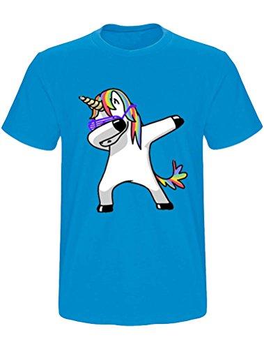 Colori Unicorno Da Maglietta 12 Corta T Stampata Uomo Con J Manica shirt Casuale Robo 7q5PZF7