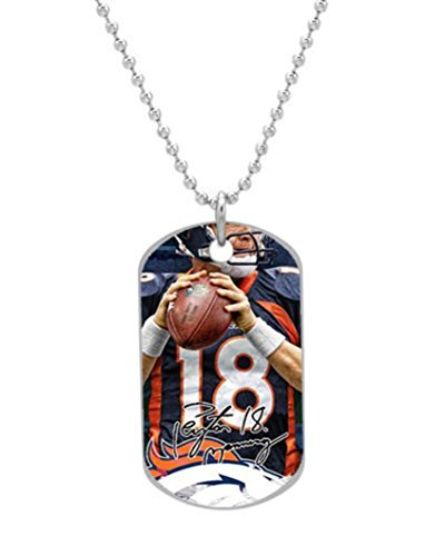 Peyton Manning Denver Custom Dog Tag with Neck Chain Aluminum pet Tag bag tag 1.2''x2.0'' inches Great gift