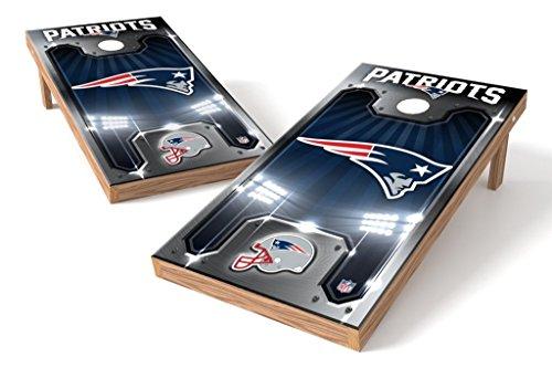 PROLINE NFL New England Patriots 2'x4' Cornhole Board Set with Bluetooth Speakers - Plate Design ()
