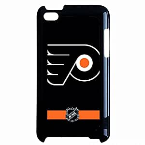 Black Printed Philadelphia Flyers Logo Phone Case Cover For Ipod Touch 4th Hard Case