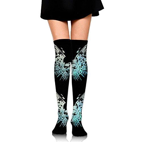 Horse Wearing Human Costume (C-JOY Blue Skull Women's Over Knee High Stockings 60 Cm Long Tube Socks Sport Socks For Women Girls)