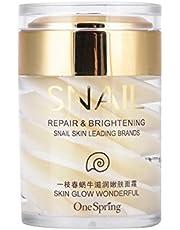 Facial Snail Cream, Anti Aging Anti-Wrinkle Facial Moisturizer Snail Extract Dag och nattkräm för åtdragning av huden