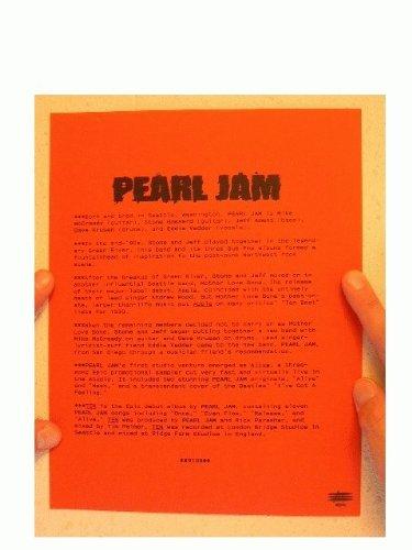 Pearl Jam Press Kit Ten