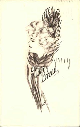 (Our Daily Bread Wheat Flower Face Fantasy Original Vintage Postcard)