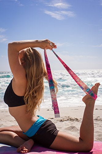 Luxury Yoga Strap by Yoga Design Lab. Extra-long, Super-soft, Printed Yoga Strap Designed to Love You Into Every Aspect of Your Beautiful Practice. 8ft (Tribeca)