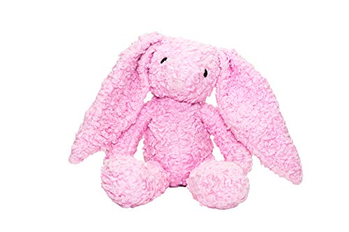 Bears For Humanity Organic Sherpa Rabbit Plush Animal Toy, Pink, ()