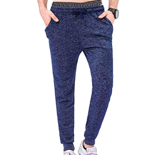 WOCACHI Men Mens Loose Sweatpants Jogger Tracksuit Running Sport Pants Trousers Plus (Sport Track Hitch)