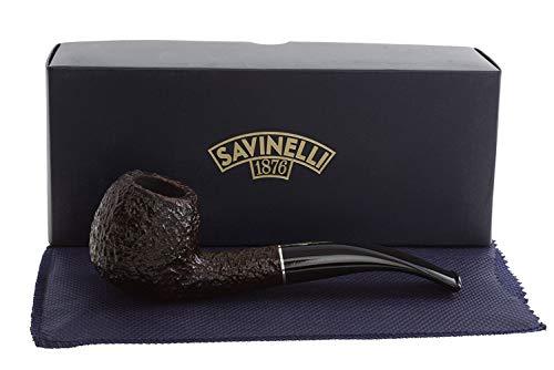 Savinelli Italian Tobacco Smoking Pipes, Tre Rusticated 626 (Savinelli Pipe Tobacco)