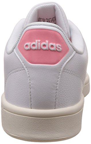 Mujer W adidas Blanco ray para Advantage White Ftwr Pink Zapatillas Cf Cl BSYtw