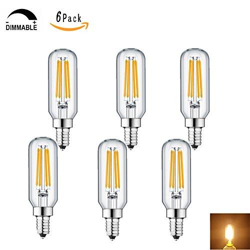 KunstDesign LED Candelabra Bulb 4W 6Pack LED Bulbs Dimmable 3000K Warm White Bulb with 400 Lumen, E12 LED Bulb Candelabra Base 40 Watt Equivalent T25 Tubular Bulbs Shape by KunstDesign (Image #6)
