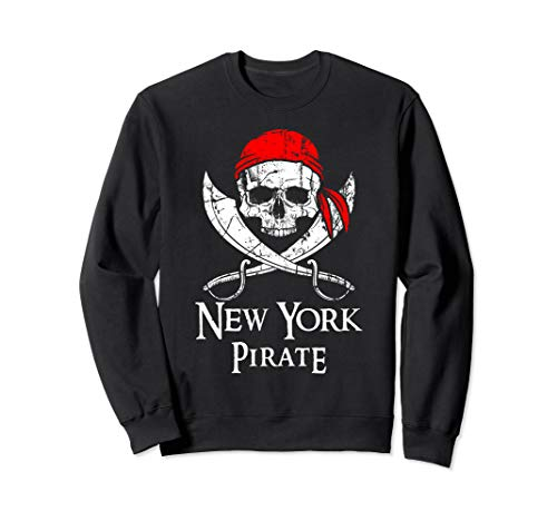 New York Pirate Jolly Roger State Pride Sweatshirt ()